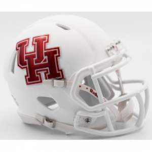 Riddell NCAA Houston Cougars Matte White Speed Mini Football Helmet