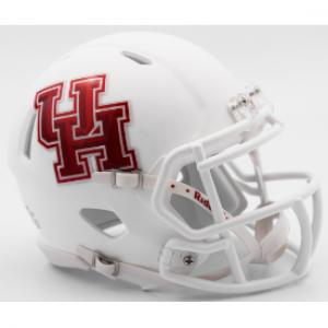 Riddell NCAA Houston Cougars Matte White Speed Mini Football Helmet