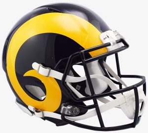 Los Angeles Rams 2019 Color Rush Riddell Full Size Authentic Speed Helmet