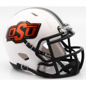 Riddell NCAA Oklahoma St Cowboys 2016 Matte White Revolution Speed Replica Full Size Helmet