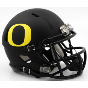 Riddell NCAA Oregon Ducks Matte Black Speed Mini Football Helmet