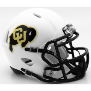 Riddell NCAA Colorado Buffaloes Matte White Speed Mini Football Helmet