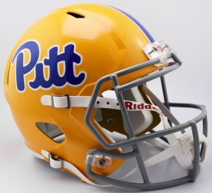 Riddell NCAA Pittsburgh Panthers Script Gold Throwback Replica Speed Full Size Football Helmet