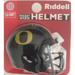 Riddell NCAA Oregon Ducks Black Speed Pocket Size Football Helmet
