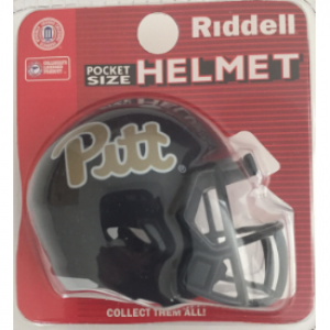 Riddell NCAA Pittsburgh Panthers Blue Script Speed Pocket Size Football Helmet