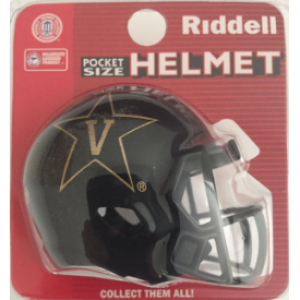 Riddell NCAA Vanderbilt Commodores Black Speed Pocket Size Football Helmet