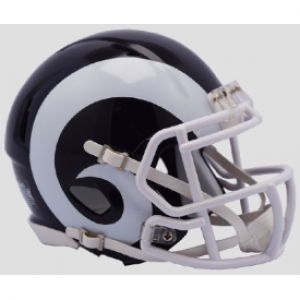 Los Angeles Rams 2017-2019 Throwback White Horn Riddell Mini Speed Helmet