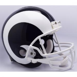 Los Angeles Rams 2017-2019 Throwback White Horn Riddell Full Size Authentic Vsr4 Helmet