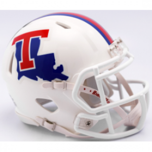 Riddell NCAA Louisiana Tech Bulldogs White Speed Mini Football Helmet