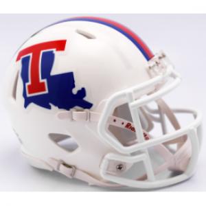 Riddell NCAA Louisiana Tech Bulldogs White Speed Mini Football Helmet