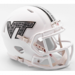 Riddell NCAA Virginia Tech Hokies 2017 Hokie Stone Decal Speed Mini Football Helmet