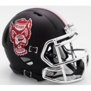 Riddell NCAA North Carolina St Wolfpack 2017 Black Howl Speed Mini Football Helmet