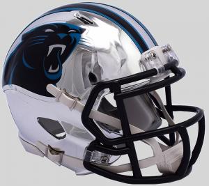 Riddell NFL Carolina Panthers 2018 Chrome Speed Mini Football Helmet