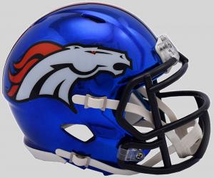 Riddell NFL Denver Broncos 2018 Chrome Speed Mini Football Helmet