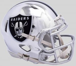 Riddell NFL Oakland Raiders 2018 Chrome Speed Mini Football Helmet