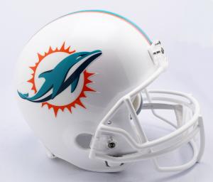 Riddell NFL Miami Dolphins 2018 Replica Vsr4 Full Size Football Helmet