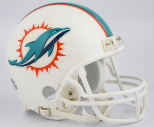 Riddell NFL Miami Dolphins 2018 Replica Vsr4 Mini Football Helmet