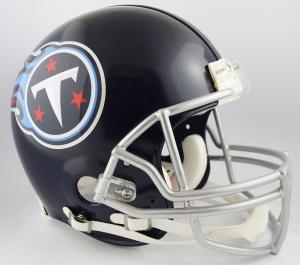 Riddell NFL Tennessee Titans 2018 Satin Navy Metallic Authentic Vsr4 Full Size Football Helmet