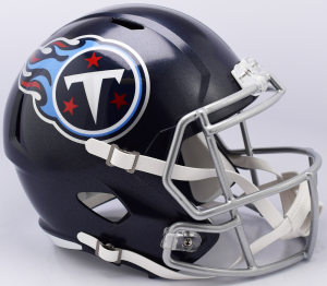 Riddell NFL Tennessee Titans 2018 Satin Navy Metallic Replica Speed Full Size Football Helmet