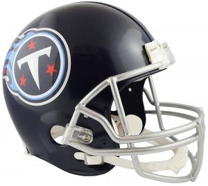 Riddell NFL Tennessee Titans 2018 Satin Navy Metallic Replica Vsr4 Full Size Football Helmet