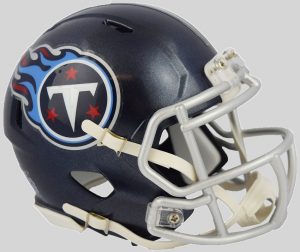 Riddell NFL Tennessee Titans 2018 Satin Navy Metallic Speed Mini Football Helmet