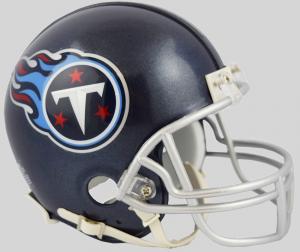 Riddell NFL Tennessee Titans 2018 Satin Navy Metallic Replica Vsr4 Mini Football Helmet