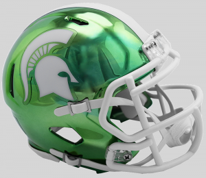 Riddell NCAA Michigan St Spartans 2018 Chrome Speed Mini Football Helmet