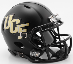 Riddell NCAA UCF Knights Black Anthracite Speed Mini Football Helmet