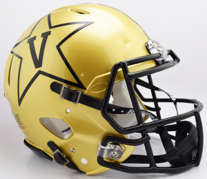 Riddell NCAA Vanderbilt Commodores 2018 Gold Authentic Speed Full Size Football Helmet