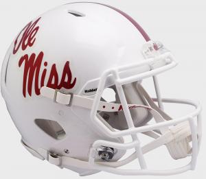 Riddell Mississippi (Ole Miss) Rebels 2018 White Authentic Speed Full Size Helmet