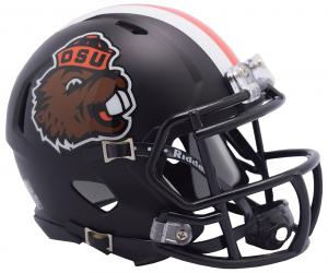 Riddell Oregon St Beavers 2018 Satin Black Retro Benny Speed Mini Helmet