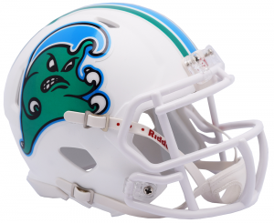 Riddell NCAA Tulane Green Wave Angry Wave Speed Mini Football Helmet