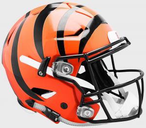 Riddell NFL Cincinnati Bengals Authentic SpeedFlex Full Size Football Helmet