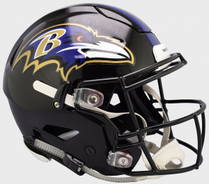 Riddell NFL Baltimore Ravens Authentic SpeedFlex Full Size Football Helmet