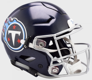 Riddell NFL Tennessee Titans Authentic SpeedFlex Full Size Football Helmet