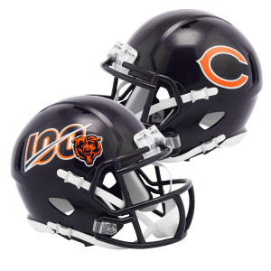Chicago Bears 100th Anniversary Riddell Mini Speed Helmet