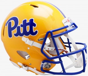 Riddell NCAA Pittsburgh Panthers Pitt Script Authentic Speed Full Size Football Helmet