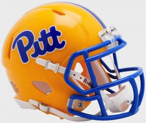 Riddell NCAA Pittsburgh Panthers Pitt Script Revolution Speed Mini Helmet