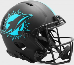 Miami Dolphins 2020 Eclipse Riddell Full Size Authentic Speed Helmet