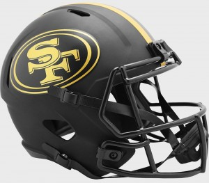 San Francisco 49ers 2020 Eclipse Riddell Full Size Replica Speed Helmet