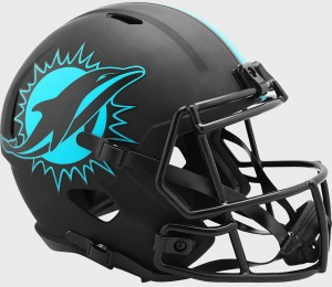 Miami Dolphins 2020 Eclipse Riddell Full Size Replica Speed Helmet