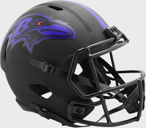 Baltimore Ravens 2020 Eclipse Riddell Full Size Replica Speed Helmet