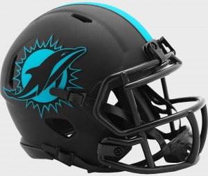 Miami Dolphins 2020 Eclipse Riddell Mini Speed Helmet