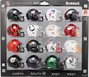 Riddell NFL AFC 2017 16pc Speed Pocket Size Football Helmet Set