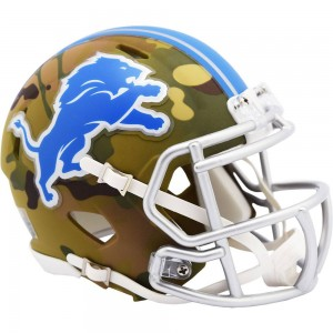 Detroit Lions 2020 Camo Riddell Mini Speed Helmet