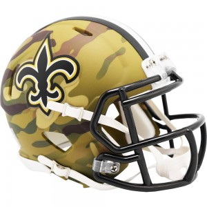 New Orleans Saints 2020 Camo Riddell Full Size Authentic Speed Helmet