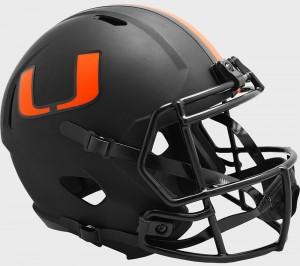 Miami Hurricanes 2020 Eclipse Riddell Full Size Replica Speed Helmet