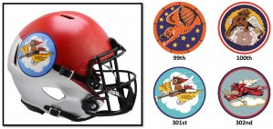 Air Force Falcons Tuskegee Airmen 99th, 100th, 301st, and 302nd Riddell Mini Speed Helmets