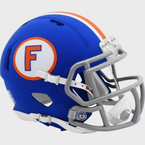 Limited Edition Florida Gators Flat Blue Throwback New 2020 Riddell Mini Speed Helmet