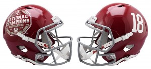 Riddell NCAA Alabama Crimson Tide #17 Speed Mini Football Helmet